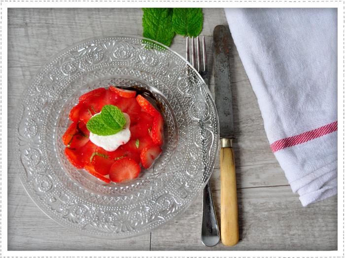 Salade de fraises mozzarella
