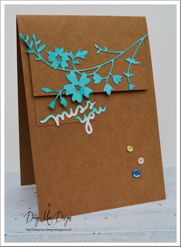Kraft, LIM, turquoise, flowers, CAS
