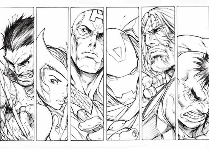 Avengers Wolverine Coloring Pages : Free coloring pages and books for kids