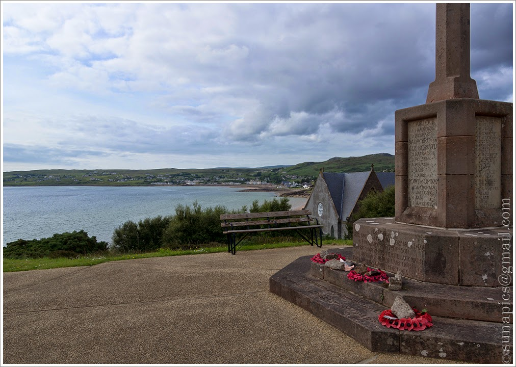 Sunday evening gairloch to badcaul 25 miles diary of a vagabond 540 war memorial above gairloch malvernweather Choice Image