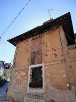 Sarajevo damage to building