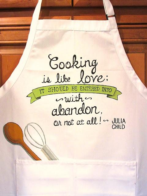 Julia Child Quote Apron
