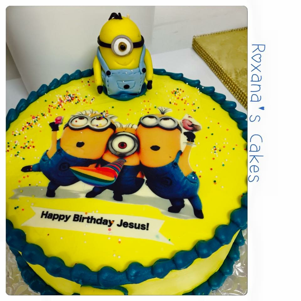 Images For Minions Birthday Cake : Baking with Roxana s Cakes: Minion themed Birthday Cake