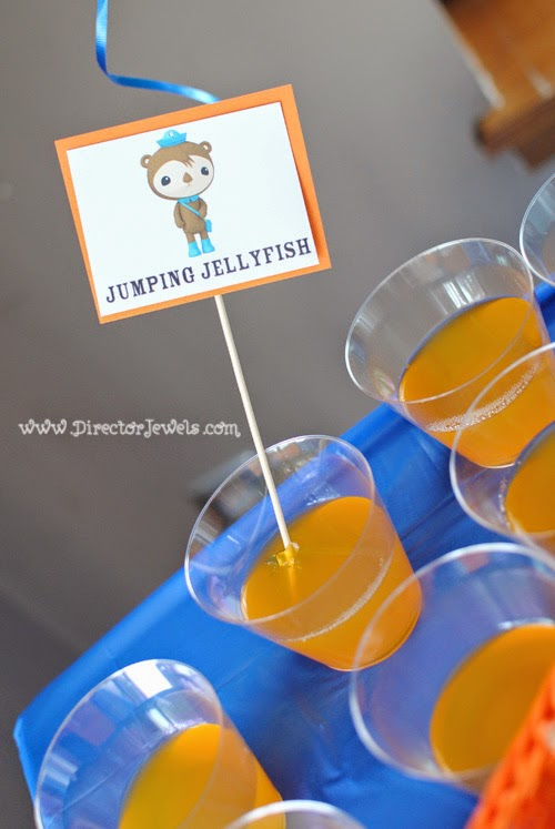 Octonauts Birthday Party Food Ideas | Shellington's Jumping Jellyfish Jello | Under the Sea Party at directorjewels.com