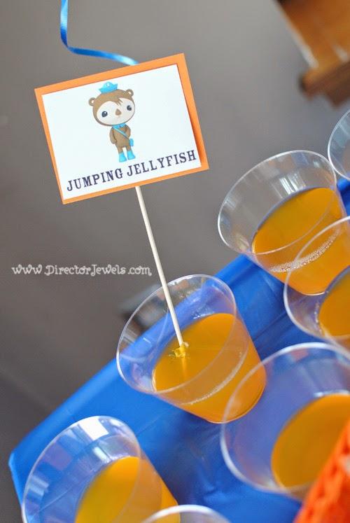 Octonauts Birthday Party Food Ideas | Shellington's Jumping Jellyfish Jello | Under the Sea Party at directorjewels.com