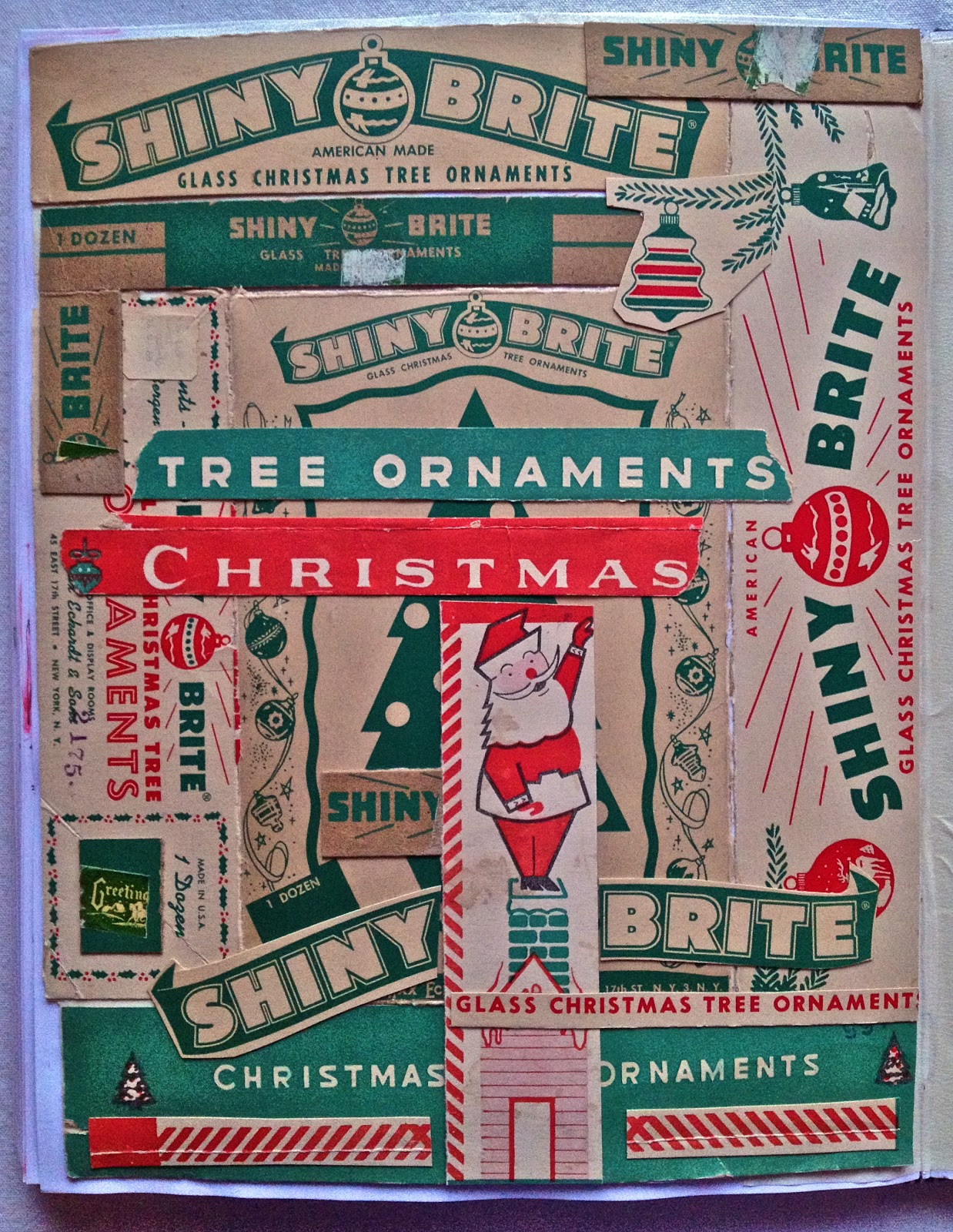 Vintage christmas decorations 1950s - Download This Vintage Christmas Card Collages