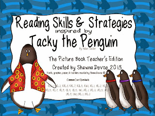 http://www.teacherspayteachers.com/Product/Tacky-the-Penguin-Reading-Skills-and-Strategies-602282