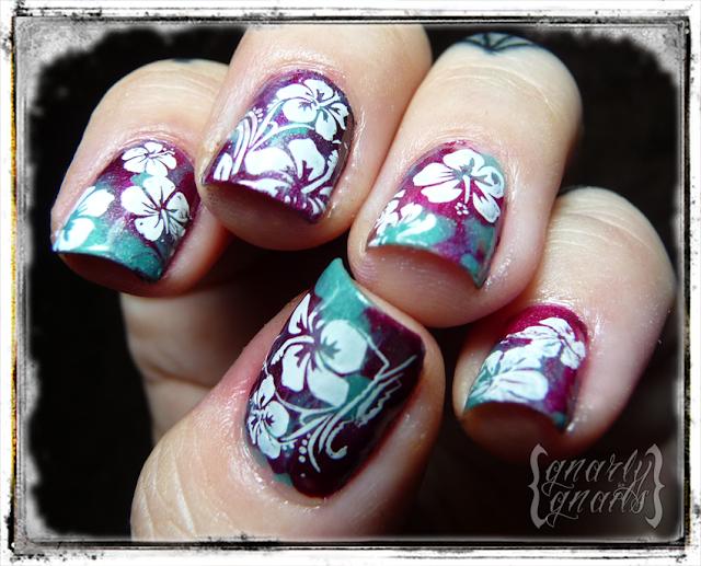 Nail designs for luau ideas about hawaiian flower nails on nail designs for luau tutorials gnarly gnails prinsesfo Choice Image