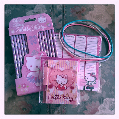 A Hello Kitty stationery package from my blogger secret santa.