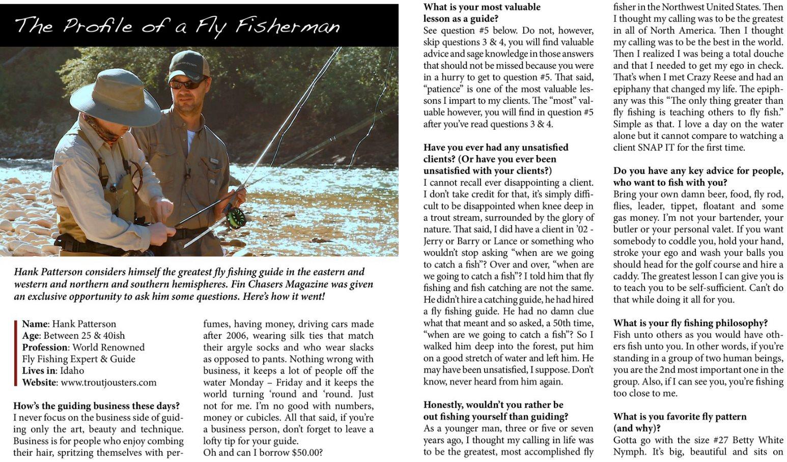 Scott hopper 39 s blog hank patterson loves the betty white for Hank patterson fly fishing