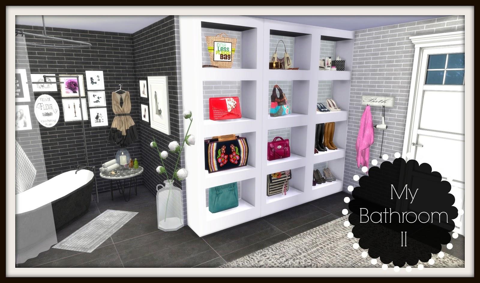 Sims 4 bathroom ii dinha for Bathroom ideas sims 4
