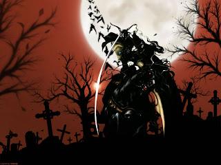 Cartoon Cemetery Dark Gothic Wallpaper