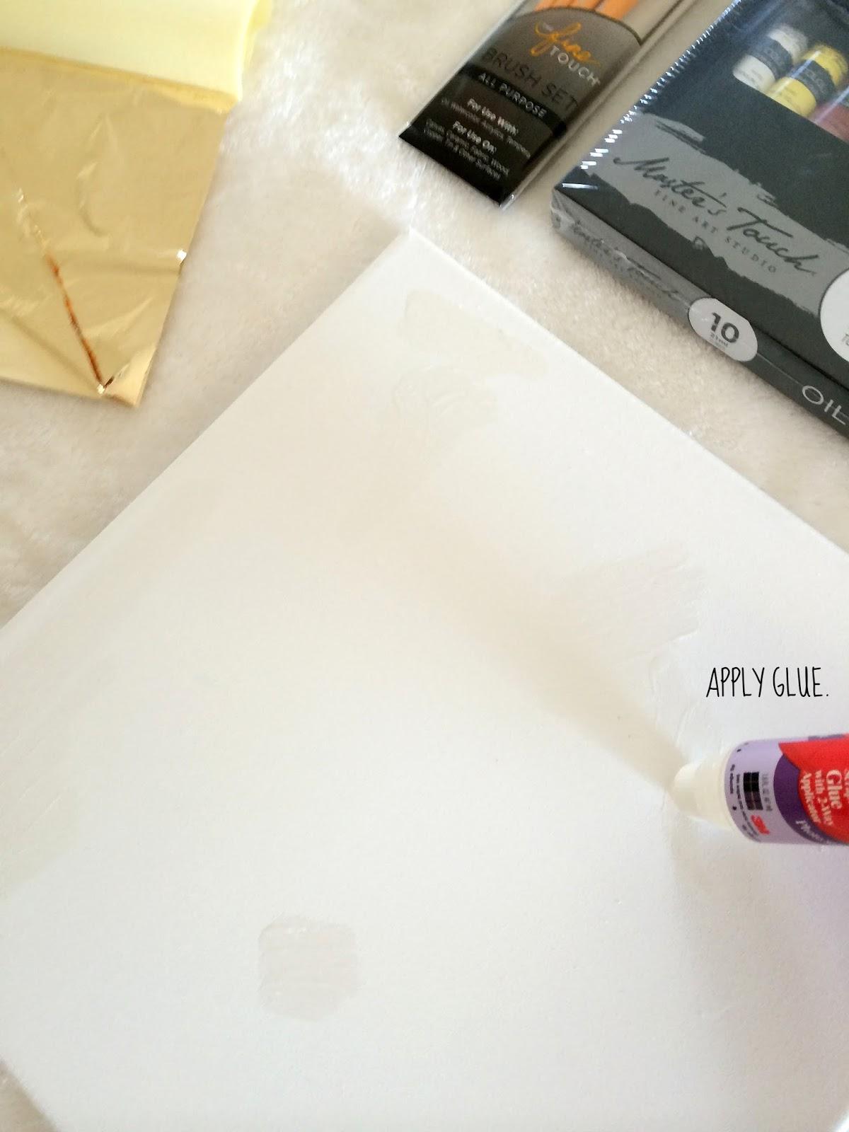 How To Make DIY Gold Leaf Abstract Art | LiveLoveDIY ... - photo #8
