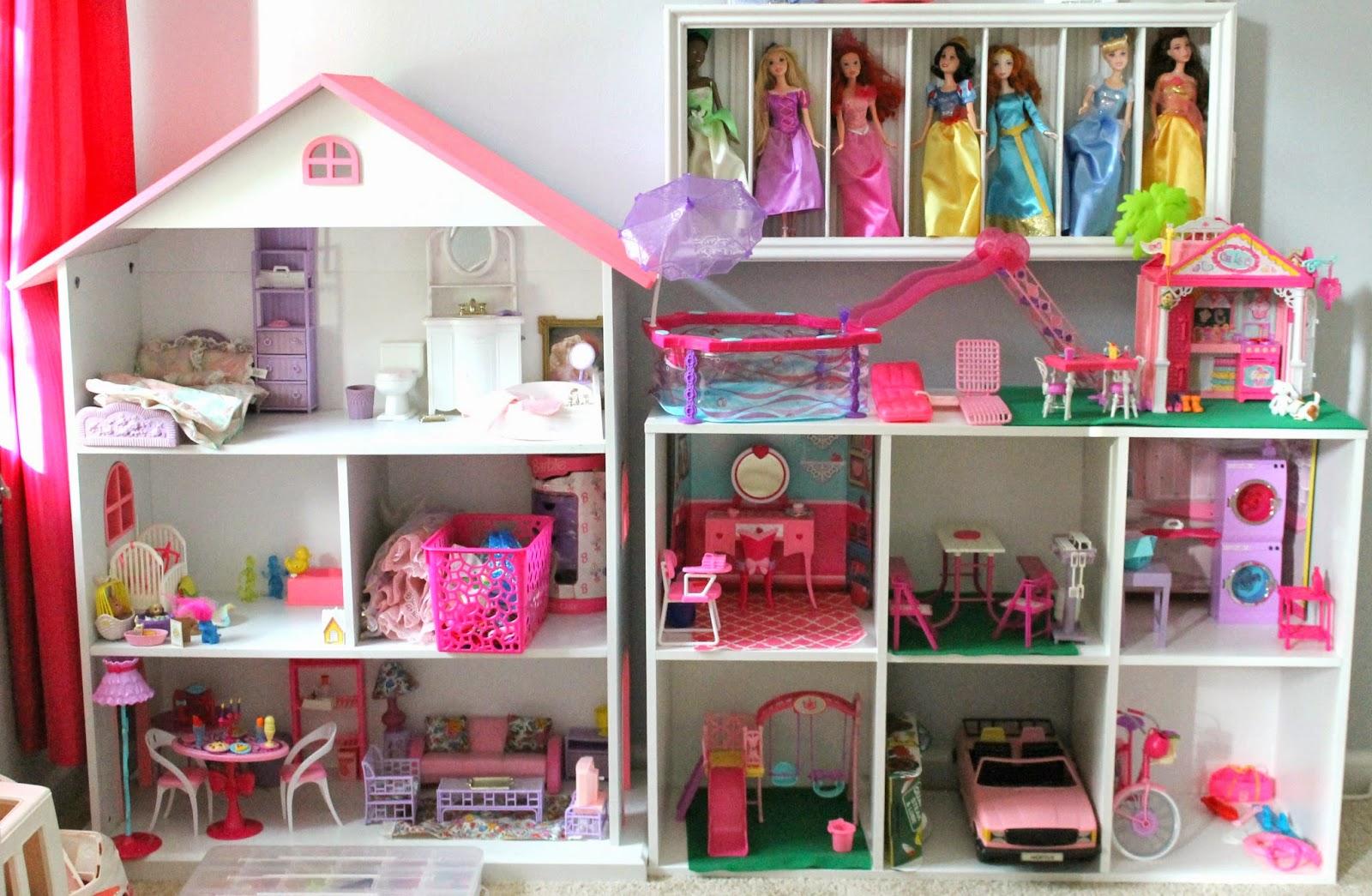 Diy bookshelf barbie house
