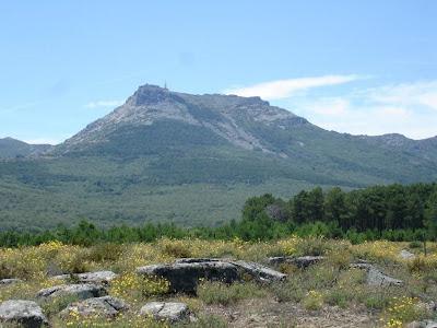 imagen panoramica con la sierra de Francia al Fondo