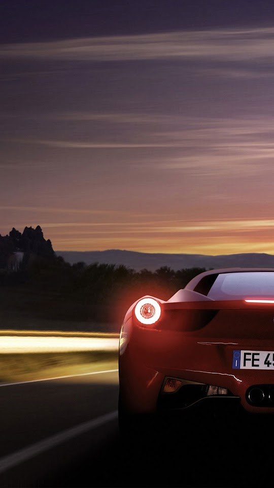Ferrari 458 Italia Rear Photo  Galaxy Note HD Wallpaper