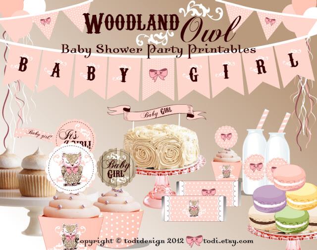 todi woodland owl baby shower