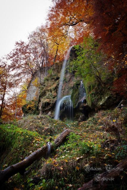 Wasserfall Bad Urach im Herbst