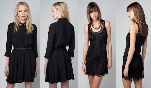 vestidos de nochevieja bershka oscuros