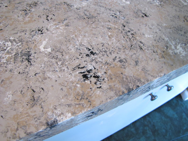 The Modest Homestead Kitchen Update Faux Granite Countertops