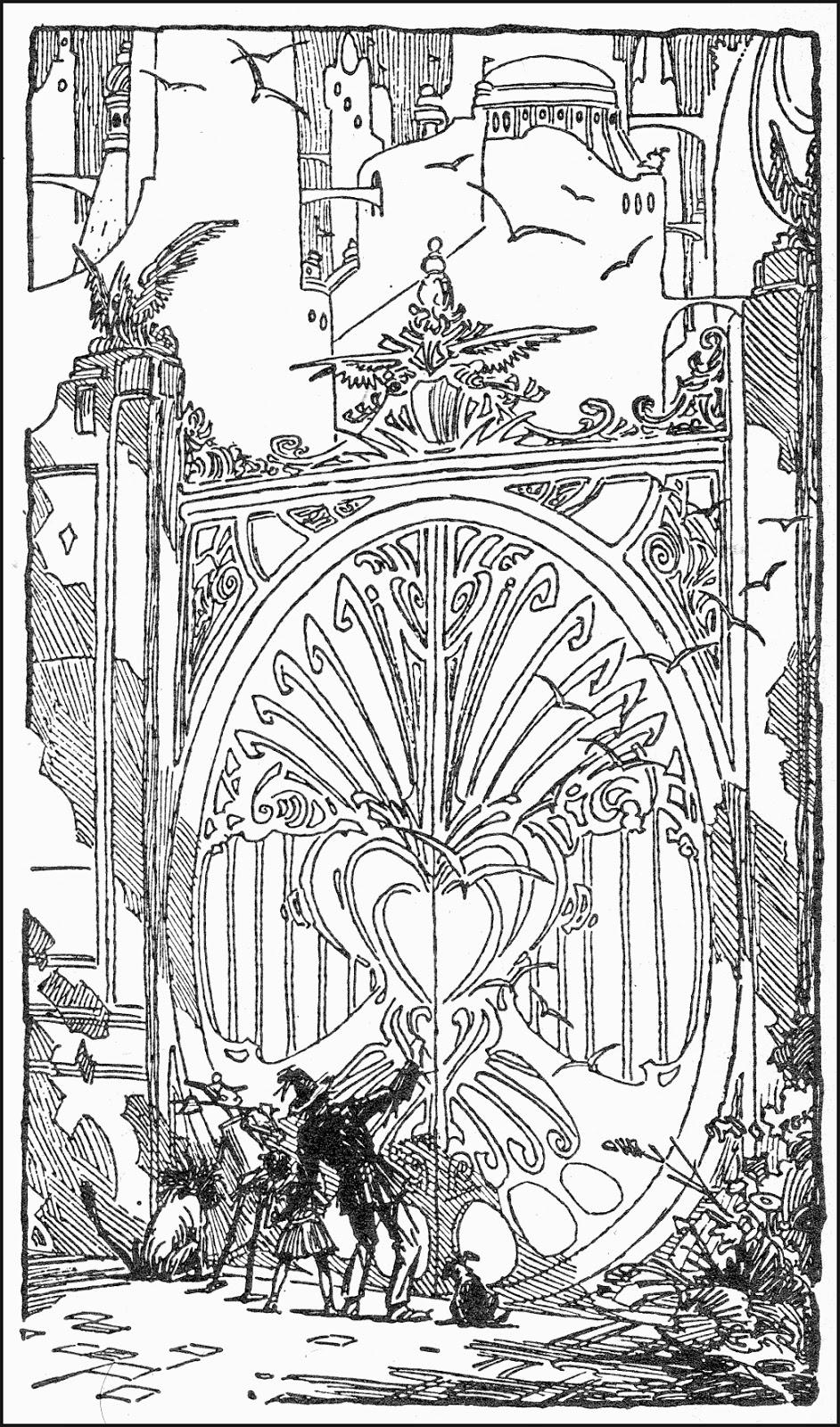 Roy krenkel 1918 1983 the wonderful wizard of oz 1965 for The wonderful wizard of oz coloring pages
