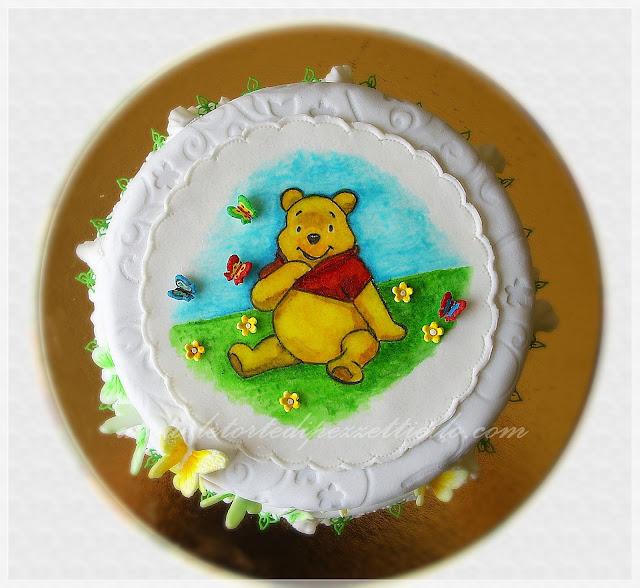 Torta a due piani Winnie the Pooh