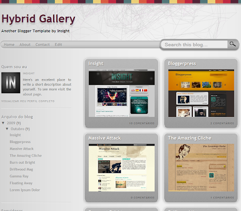 Hybrid Gallery Blogger Theme