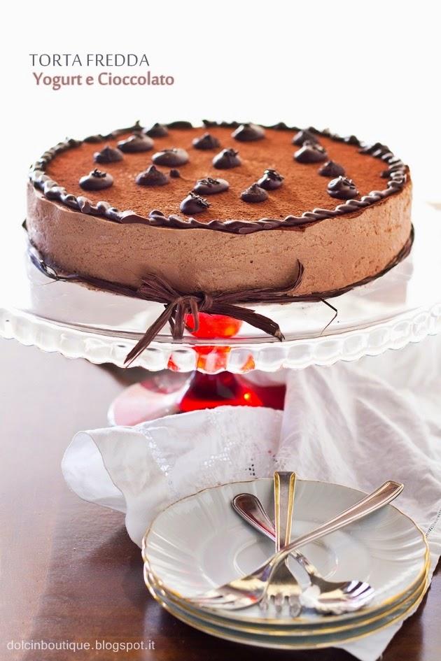 torta fredda di yogurt e cioccolato