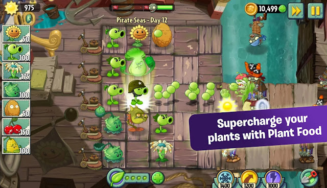 New Download Plants vs.Zombies™ 2 v4.4.1 Mod Apk+Data (Mod Coins+Gems+Keys) Terbaru