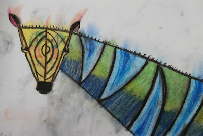 how to draw a zebra chalk pastel art activity for kids