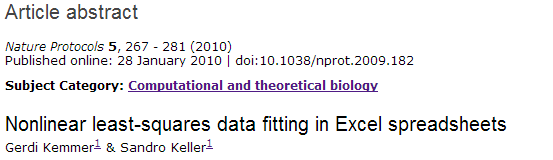 Non-Linear Curve Fitting is Nature Publication Worthy?