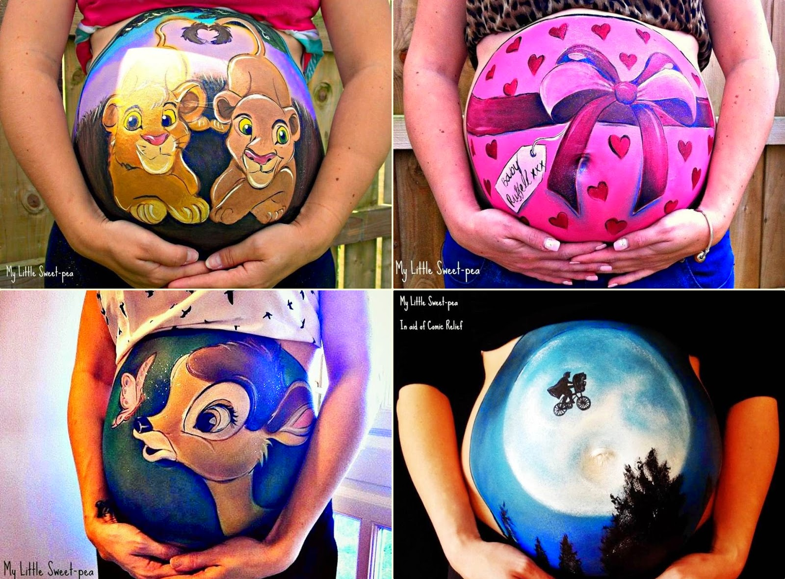 Creative Pregnant Belly Bump Painting