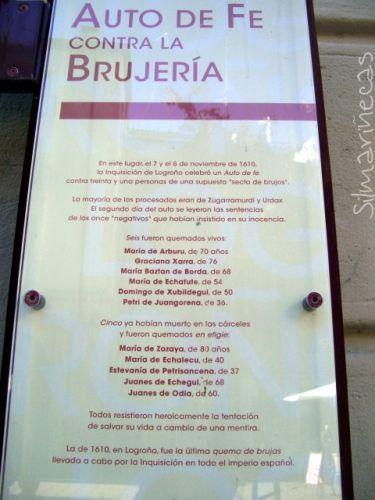 Auto de fé contra a brujería - Logroño