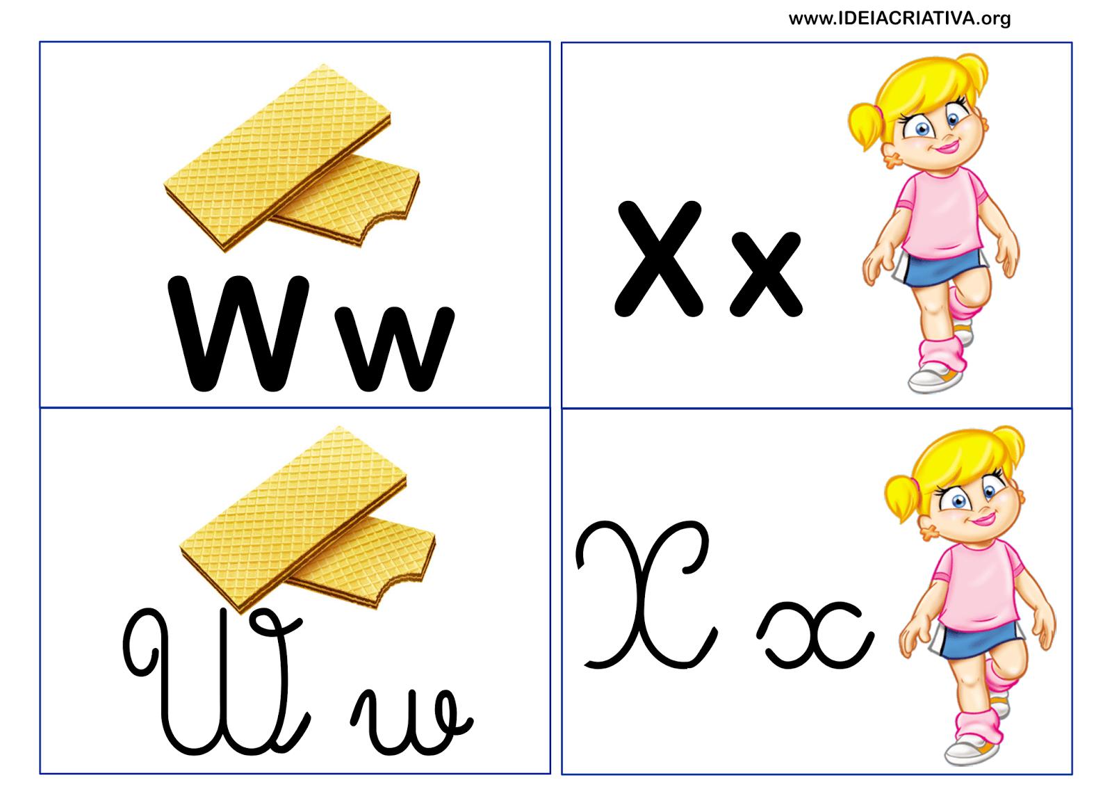 Jogo da Memória Letras do Alfabeto