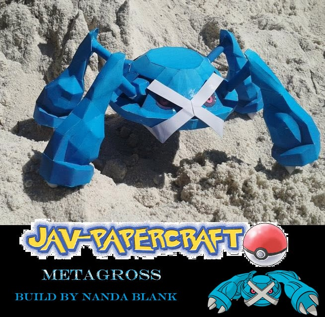 Pokemon Metagross Paper Model