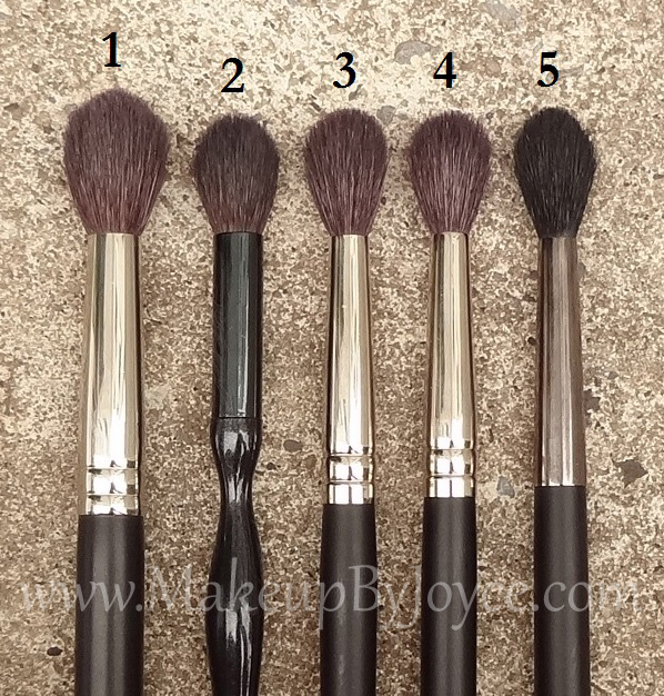 tapered crease brush. review + comparison: tapered crease blending brushes brush