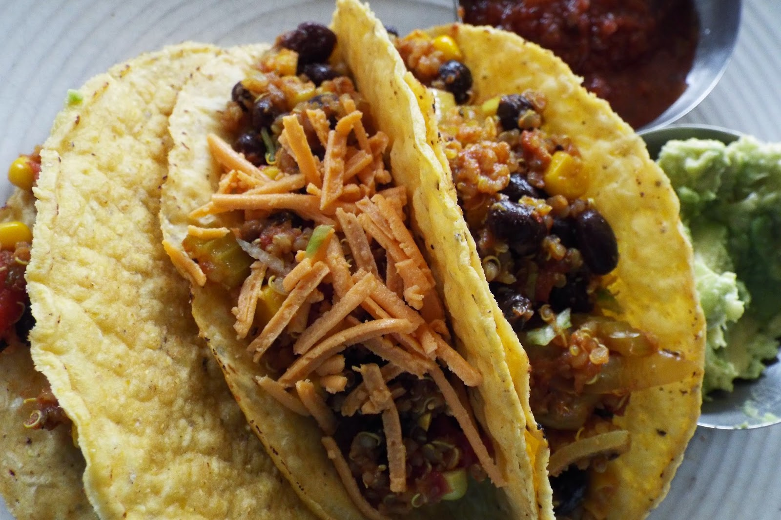 Vegan Quinoa Tacos with Black Beans, Corn and Guacamole ...