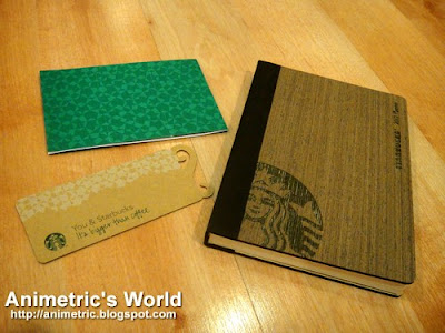 Starbucks 2012 Planner with coupons and bookmark