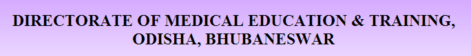 DMET Odisha Tutor Vacancy 2014