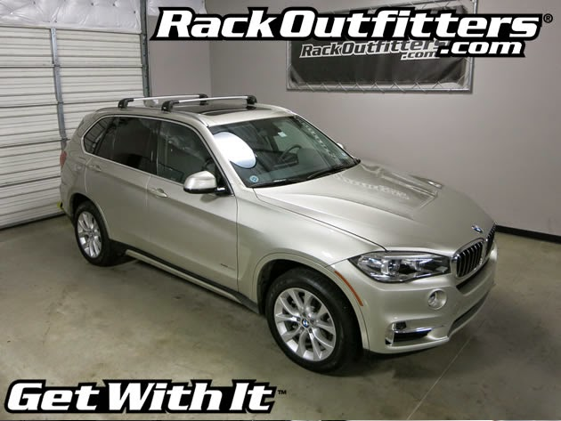 NEW BMW X5 Thule SILVER AeroBlade EDGE Base Roof Rack U002714 U002715*
