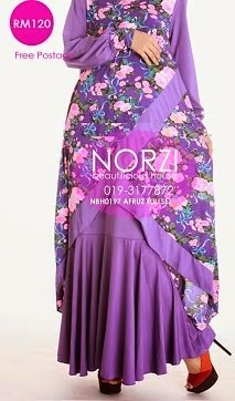 NBH0197 AFRUZ FISHTAIL FULLSET (NURSING AND MATERNITY FRIENDLY)