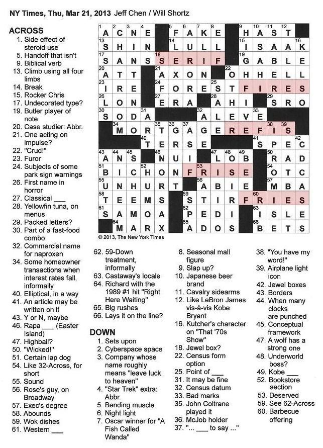 New+York+Times+Crossword+by+Jeff+Chen+edited+by+Will+Shortz+Thursday