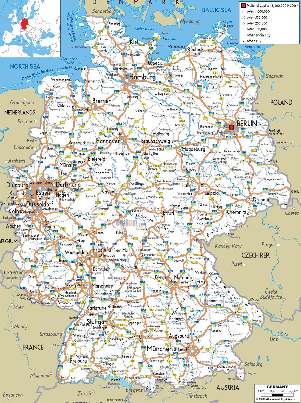 Harta Romania Germania Rutiera