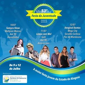 Santana do Ipanema: 53ª Festa da Juventude corre risco de ser embargada a pedido do Ministério Público
