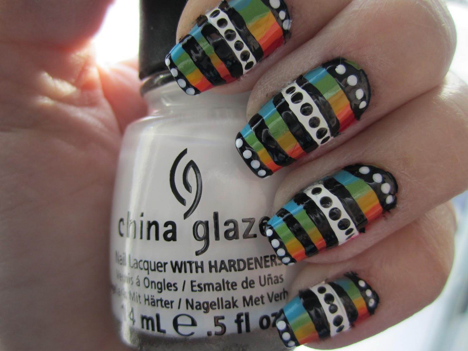 Colorsplash Nails: Line Design