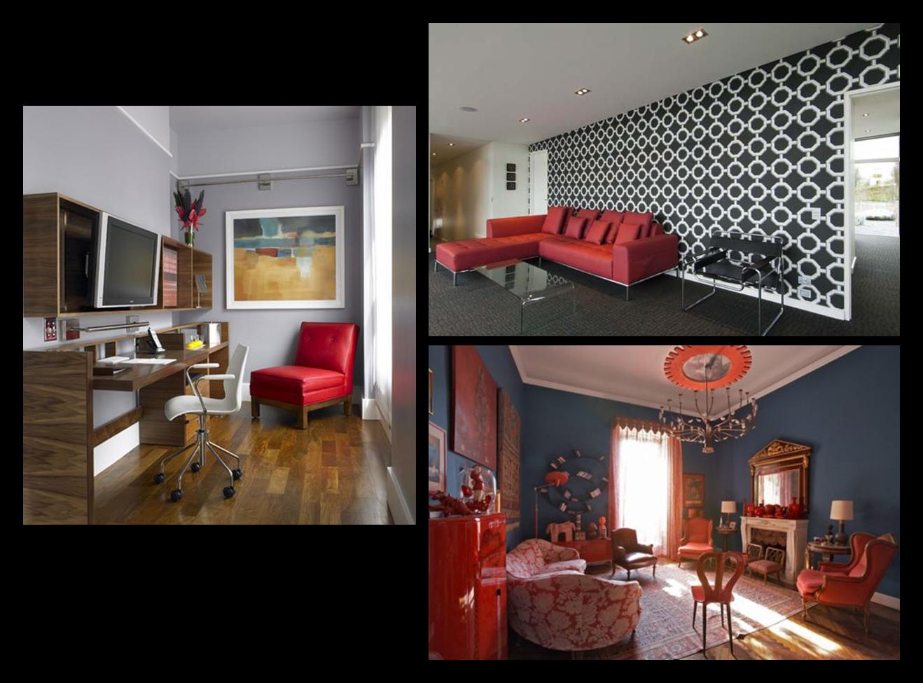 Como Usar Sof Vermelho Na Decora O Cores Da Casa -> Papel De Parede Para Sala Com Sofa Vermelho