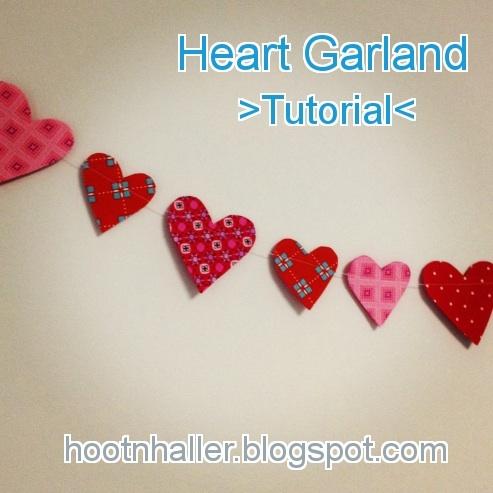 Heart garland -- tutorial