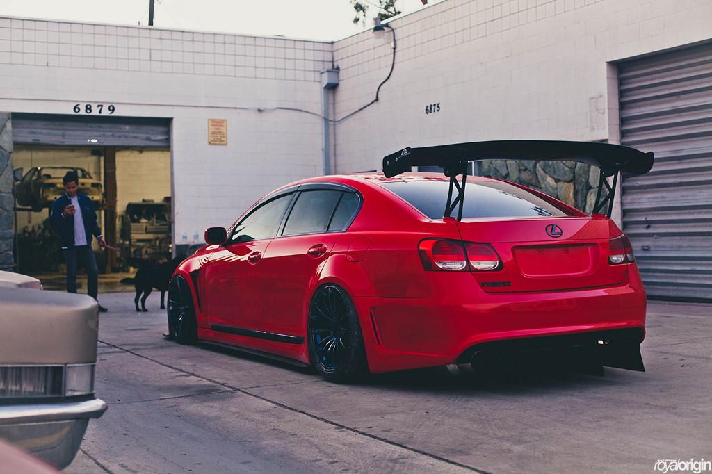 Lexus GS, tuning, spoiler, Toyota Aristo, sedan, motoryzacja, sportowe, czerwony, tył, jak wygląda