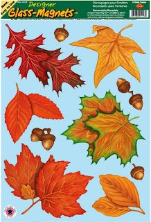 Fall Leaf Window Clings - Thanksgiving Day Deocrations