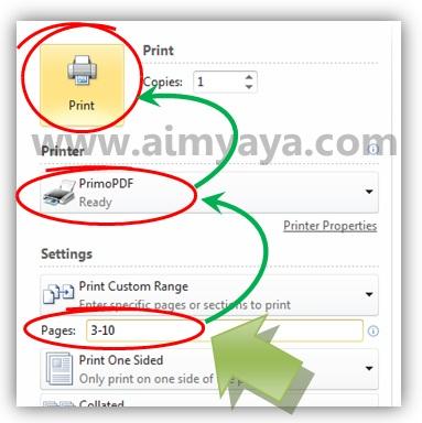 Gambar: Cara Membuat file PDF seperti mencetak dokumen di microsoft word 2010